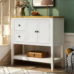 36 inch Entryway Console Sofa Table Buffet Sideboard Storage