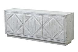 """84"""" Protasio Sideboard Reclaimed Solid Wood Stone Washed Whi"""