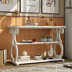 Accent Console Table Sideboard Buffet w/Shelf Hall Furniture