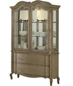 Acme Chelmsford Hutch and Buffet in Antique Taupe Finish 660