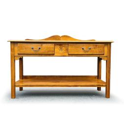 ETHAN ALLEN Country Crossings 2 Drawer Maple Buffet Console