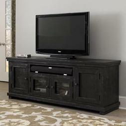 """Distressed Solid Wood 74"""" TV Stand Cabinet Assembled Media C"""