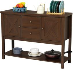 Entryway Console Sofa Table Buffet Sideboard Storage Cabinet