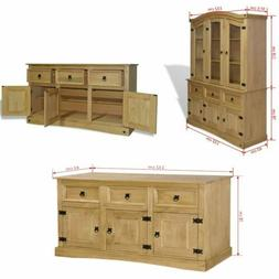 Extra Large Sideboard Cupboard SolidWood Cabinet Buffet Pine