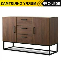Kitchen Storage Cabinet Buffet Server Table Sideboard Dining