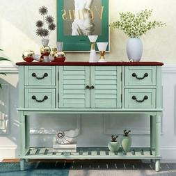 Retro Exquisite Console Table Sideboard for Entryway Sofa Ta