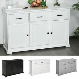 Sideboard Buffet Server Table Storage Cabinet with 3 Drawers