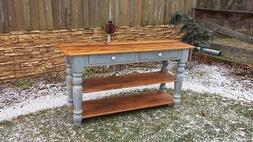 Sofa table, Sideboard, hall table, entry table, reclaimed wo