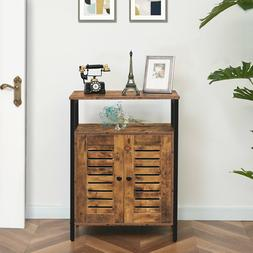 Storage Cabinet Cupboard Floor Cabinet Sideboard with Louver